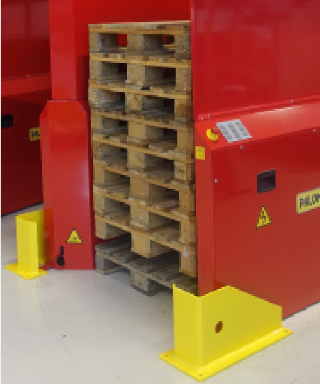 Option - Stopblocks for PALOMAT pallemagasin